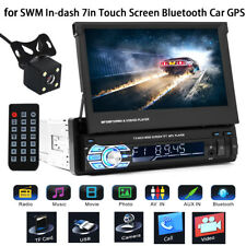7'' HD Bluetooth Touch Screen Car Stereo Radio Player 1 DIN FM/MP5/MP3/USB/AUX