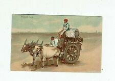 POSTCARD EARLY PRINTED OF A BULLOCK CART
