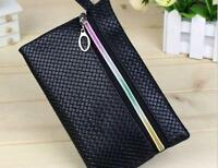 Fashion Lady Women Card Coin Purse PU  Wallet Soft Holder Zip Clutch Bag