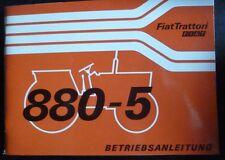 Fiat Schlepper 880-5 + 880-5 DT Betriebsanleitung