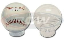 (2) BCW Baseball Globes - Crystal Clear Acrylic Baseball Holder Display Cases