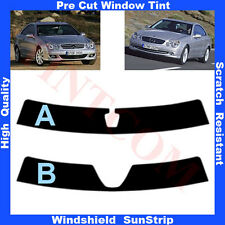 Pre Cut Window Tint Sunstrip for Mercedes CLK 2 Doors Coupe 2003-2009 Any Shade