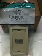 1 = Panduit CFPE2EIY Mini Com Faceplate C 2 module space Ivory