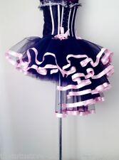 Burlesque Black Baby PinK Tutu Skirt XS S M L XL Bustle Sexy Showgirl FancyDress