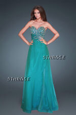GLAM UP TO IMPRESS! BEADED FORMAL/EVENING/PROM/BRIDESMAID GOWN GREEN M; AU 10-12