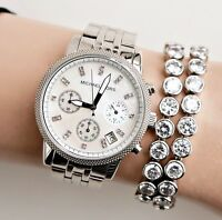 Original Michael Kors Uhr Damenuhr  MK5020 RITZ Farbe:Silber/Perlmutt NEU