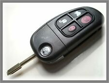 NEW UNCUT 4 BUTTON REMOTE FLIP  KEY FOB CASE for JAGUAR X S XJ XJR TYPES