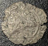 1623-1673 Switzerland City of Schwyz Silver 1 Schilling Rare Medieval Coin