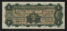Australia R-26. One Pound (1927) -  Riddle/Heathershaw. George V Portrait. gFine