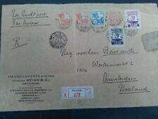 Nederlands Indie mengfrankering op aanget. brief Soerabaja-A'dam vouw, taperest