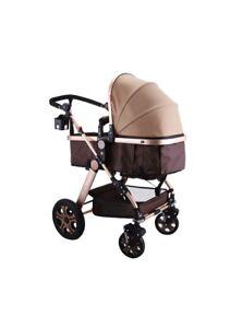 3 in 1 Luxury Baby Stroller Newborn Pram Foldable Infant Pushchair Bassinet Car