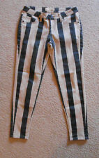 HYBRID & COMPANY Striped denim Skinny Leggings Jeans Pants Size 7 31 x 27