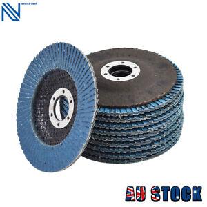 "10 Pack 115mm 4.5""x7/8'' T29 80 Grit Zirconia Flap Disc Grinding Sanding Wheels"