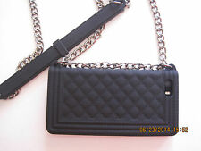 iphone Case protecto 5 5S-cool shoulder Chain Bag Soft Silicone Cover Skin black