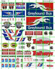 7016A REVERSE DAVE'S DECALS BUSINESS SET HO SCALE BUS STATION DEPOT GREYHOUND SE