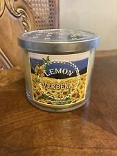 NEW Bath and Body Works Lemon Verbena Large Provence 2014 3 Wick Candle