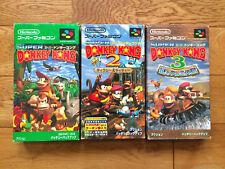 Super Donkey Kong 1 2 3 Super Famicom SFC SNES Japan Free Shipping