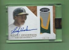 RICKEY HENDERSON AUTO AUTOGRAPH 2016 TOPPS DYNASTY 3 COLOR PATCH RELIC #d 10/10