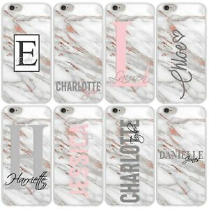PERSONALISED MARBLE PHONE CASE COVER for APPLE iPHONE 5 6 7 8 Plus X XR Max 11