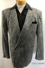 COSI L'UOMO Men's Sport Coat 40R 2 Button DB Gray Jacket Blazer