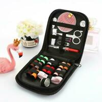 Portable Travel Small Home Sewing Kit Case Needle Thread Scissor Set Tape Q5V8