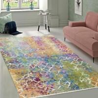 Multi Colour Rug New Modern Designer Carpet Small X Large Living Room Floor Mat