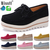 Women's Ladies Slip On Pumps Moccasins Casual Platform Loafers Boat Shoes Size