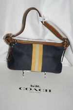 Coach Denim Striped Demi Hobo Handbag**Only one of these colors**