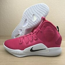 Nike Hyperdunk X Basketball Shoes Mens 15 AT3866-609 Pink White Cancer Awareness