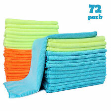 72PCS Microfiber Cleaning Cloth Towel Rag Car Polishing Detailing No-Scratch