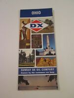 Vintage 1967 Sunoco DX Ohio - Oil Gas Service Station Travel Road Map