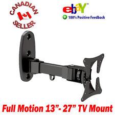 "LCD TV Monitor Wall Mount 13-27"" ±20° Tilt 180° Swivel arm 15 17 19 20 21 22 24"""