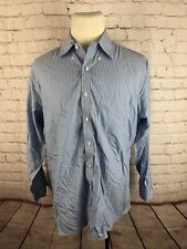 Brooks Brothers Men's Blue Stripe Dress Shirt 16.5 32/33 $125