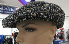 Notizie Cappello Bambino Nero Bicolore Tweed Basco Tassista Donna Caldo  Cappello 8b079d02966c