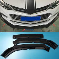 For Chevrolet Cruze 2017-2018 ABS Bright black Front Bumper Lip Cover Trim 3pcs