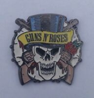 OLDER GUNS N ROSES SKULL Enamel Pin Badge SLASH AXL ROSE