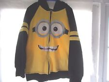 Despicable Me Minion Zippered Hoodie Jacket Size Small 6 - 7