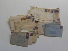 42 Old Letters 1940s Detroit Michigan Lot Indianapolis Indiana Lot VTG Covers