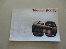Original 1970s Triumph 1500 TC advertising booklet