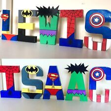 Childrens personalised letters names.Marvel Superhero Avengers Spider-Man batman