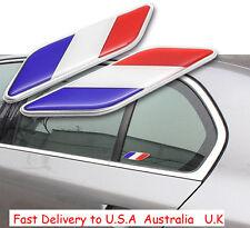 Metal Emblem Badge Decal Car Fender Side Logo Sticker France French Flag USA