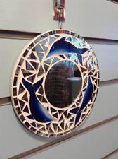 Espejo De Mosaico Delfín Azul 20 cm X 20 Cm (8 pulgadas), hecho a Mano Fairtrade