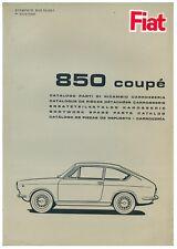 Catalogo originale ricambi carrozzeria 1965 Fiat 850 coupé 1°ed. ( FORMATO PDF )