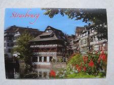 Postkarte Ansichtskarte AK Straßburg Traditionelle Häuser 3D Wackelbild NEU