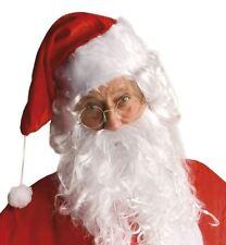 Classic Father Christmas SANTA Round Clear Glasses Gold Rim Retro Fancy Dress