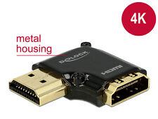 Delock 4k HDMI Typ A Stecker/buchse Adapter Gewinkelt links