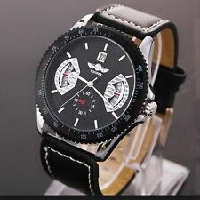 Montre Pour Homme WINNER De Luxe Date Model Mecanique Squelette Quartz Noir