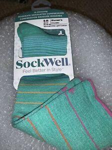 Sockwell 15-20 mmHg Compression Sock- Full Flattery Wide Calf  Size S-M Beige