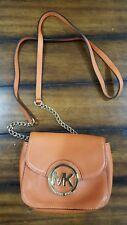 Michael Kors Fulton Small Crossbody Burnt Orange Leather Shoulder Bag Handbag