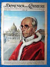 La Domenica del Corriere 18 marzo 1956 Papa Pio XII Kattegat Don Carlo Gnocchi